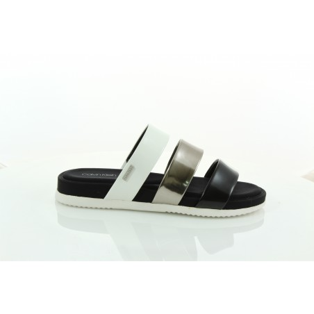 Klapki Calvin Klein Dalana Box E6552 Black Pewter