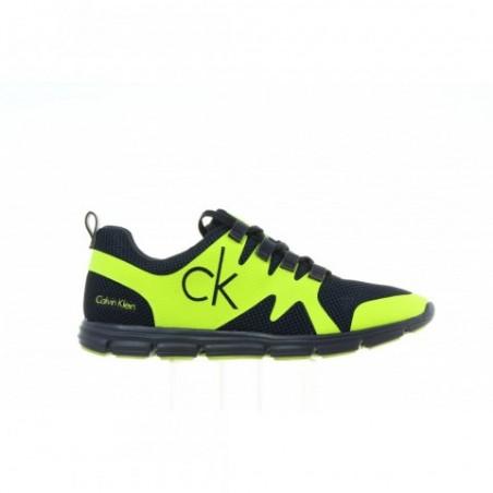 Sneakersy Calvin Klein Murphy Mesh SE8525 Navy Yellow Fluo