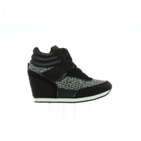 Sneakersy Calvin Klein Vivi Knitted Canvas RE9350 Black White