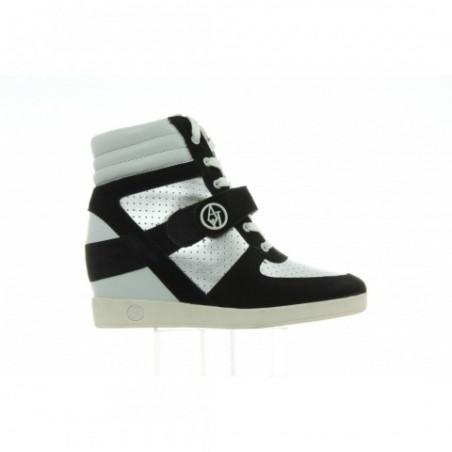 Sneakersy Armani Jeans Argento Silver C55E1 63 81