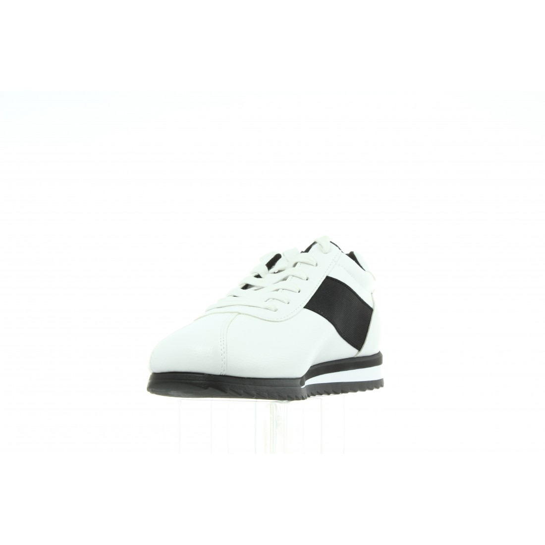 S0499 White Black Biały