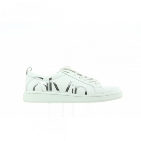 Sneakersy Calvin Klein Danya Cow Silk E5827 Platinum White