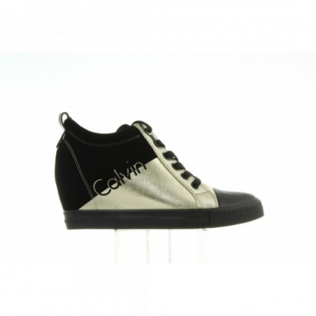 Sneakersy Calvin Klein Rory Metal Canvas R0646 Gold Black
