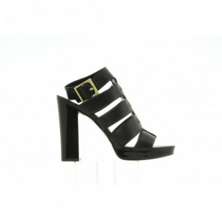 Sandały Calvin Klein Benita Cow Silk E4548 Black